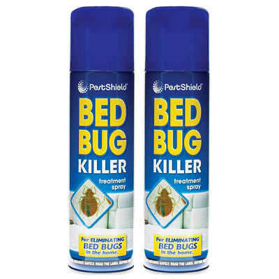2 x Bed Bug Killer Spray Insect Carpet Mattress Treatment Eliminate Bugs 200ml