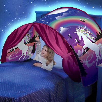 Magical Kids Dream Tents Unicorn Fantasy Foldable Tent Pop Up Indoor Bed H016