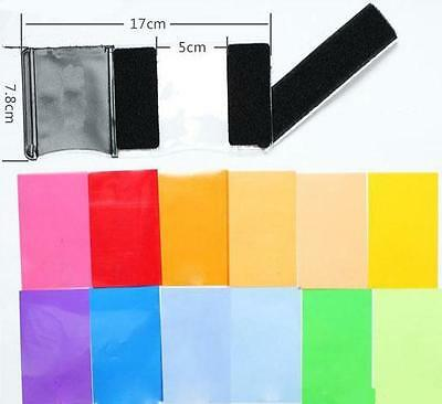 Pro 12 Color Balance effect Gel filter flash Diffuser Kit for Speedlite Canon MA