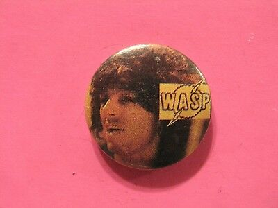 W.a.s.p. Vintage Button Pin Not Patch Poster Lp Cd Shirt Uk Made