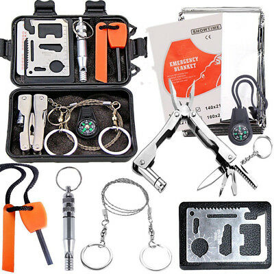 Emergency Survival Equipment Kit Outdoor Sports Tactical Hunting SOS Tool Set
