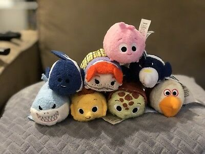Complete 8 Finding Nemo Tsum Tsum Disney Store Set with Tags