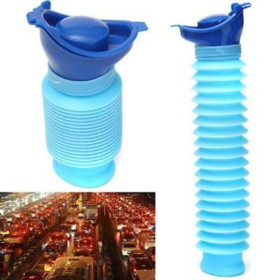 Male & Female Portable Urinal Travel Camping Car Toilet Pee Bottle 750ml Blue MA