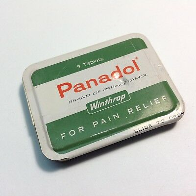 Vintage Doctors Sample PANADOL Tin 9 Tablets