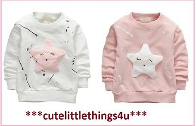 Baby Girls Long Sleeve Jumper Top Ages  9-12 12-18 18-24 Months