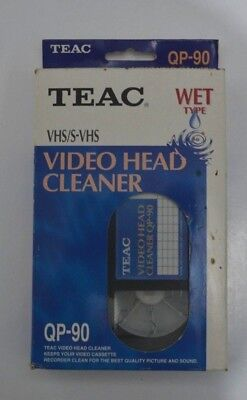 TEAC Video Head Cleaner VHS / S-VHS For Video Cassette Recorders Wet Type QP-90