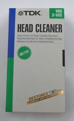 TDK VHS S-VHS Head Cleaner For Video Cassette Recorders Dry Type TCL-11