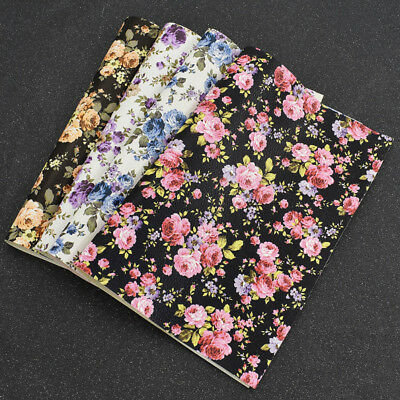 21X29cm Printed Chrysanthemum Litchi Grain Leather For Bow DIY Handbags Shoes