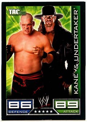 "2008 WWE TOPPS ""UNDERTAKER & KANE"" SLAM ATTAX WRESTLING TRADING CARD as NEW ]"