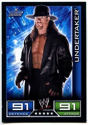 "2008 WWE TOPPS ""UNDERTAKER"" SLAM ATTAX WRESTLING TRADING CARD as NEW [COND]"