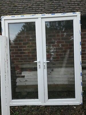 White Upvc French Doors With Frame And Sill 6ft See Pictures