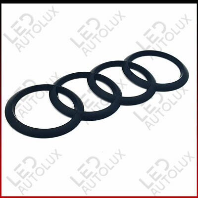 New Matte Rear Back Badge Rings Logo Emblem Audi A3 A4 A5 A6 Sline 192x68mm