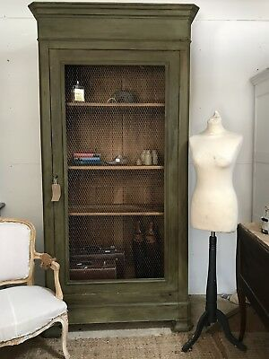 vintage french armoire Chicken Wire