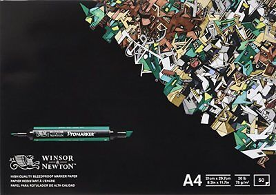 Winsor & Newton A4 Bleedproof Paper (Pack of 50 Sheets)