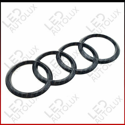 New Carbon Fibre Rear Back Badge Rings Logo Emblem Audi A3 A4 A5 A6 Sline 192x68