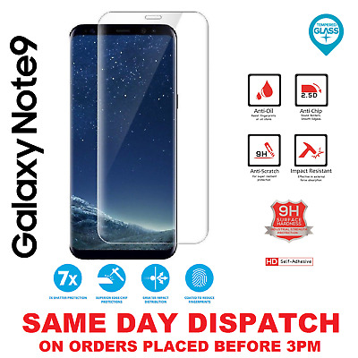 100% Genuine Tempered Glass LCD Screen Protector Film For Samsung Galaxy Note 9