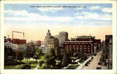 View of New Orleans Louisiana LA from Lafayette Square ~ 1930s