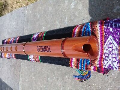 NATIVE AMERICAN STYLE FLUTE SOLID AMAZON WOOD (G) & 6 HOLES  Retail-$245 NEW