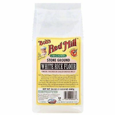 Bobs Red Mill Stone Ground White Rice Flour, 24 Oz Pack Of 4
