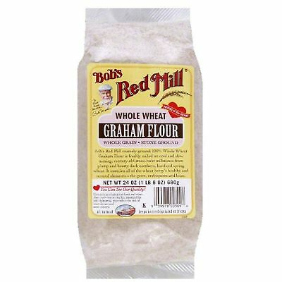 Bobs Red Mill Whole Wheat Stone Ground Whole Grain Graham Flour, 24 Oz Pack Of 4