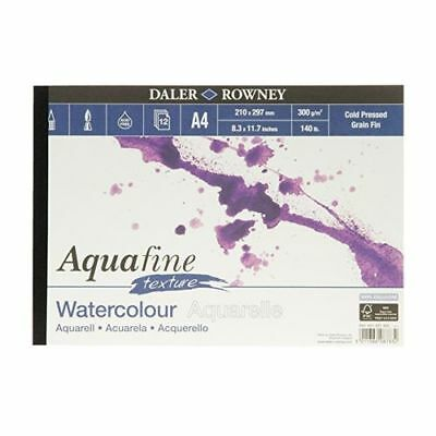 Daler Rowney Aquafine artists watercolour TEXTURE pad A4 cold pressed NEWQUALITY