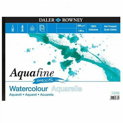 Daler Rowney Aquafine aquarelle artists watercolour SMOOTH pad A4 hot pressed