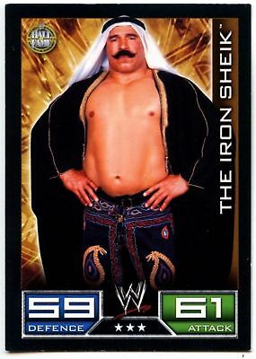 "2008 WWE TOPPS ""IRON SHIEK"" SLAM ATTAX WRESTLING TRADING CARD as NEW Cond"