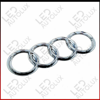 New Chrome Silver Rear Back Badge Rings Logo Emblem Audi A4 B7 175x60 Plastic