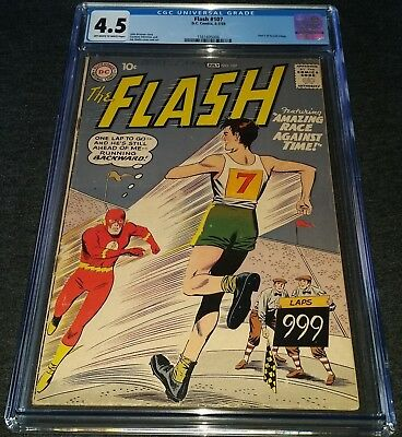 THE FLASH ISSUE 107 JUN/JUL 1959 |  CGC 4.5 | DC SILVER AGE |  GRODD TRILOGY Pt2