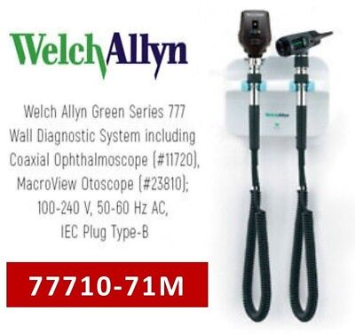 Welch Allyn GS 777 3.5v Wall Diagnostic System w/ Ophthalmoscope & Otoscope NEW