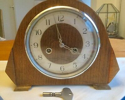 Lovely 'dupontic' Striking Mantel Clock - Working With Key