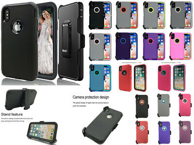 For Apple iPhone XS MAX/XR/XS/X NEW Defender Case With Holster Fit Otterbox