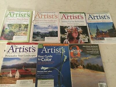 Lot of 7 The Artist's Magazine 2001-2008 Very Good Condition