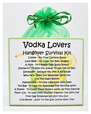 A Unique Fun Novelty Gift //Secret Santa Prosecco Lovers Hangover Survival Kit