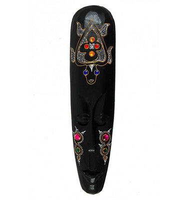 Grand masque d'inspiration africaine chic - Motif tortue