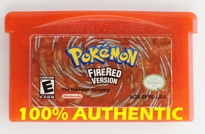 ORIGINAL AUTHENTIC Pokemon Fire Red Version Save Properly Gameboy Advance