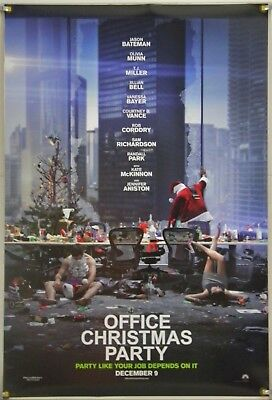 Office Christmas Party Original Ds Movie Poster 27x40 Ds 2016
