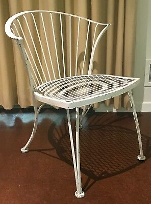 Vintage Russell Woodard Wrought Iron Patio Chair