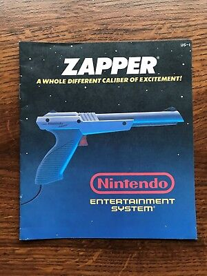 Zapper Grey Gray Gun NES Nintendo Instruction Manual Only