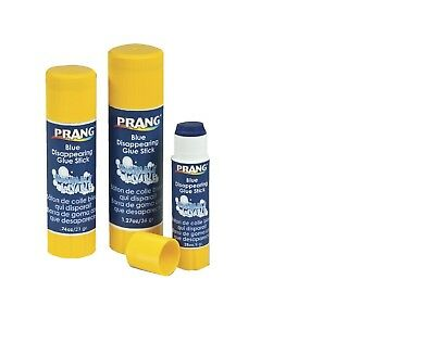 Prang Non-Toxic Odorless Washable Glue Stick 0.28 oz Blue and Dries Clear