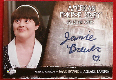 AMERICAN HORROR STORY - JAMIE BREWER as Adelaide Langdon - Autograph Card
