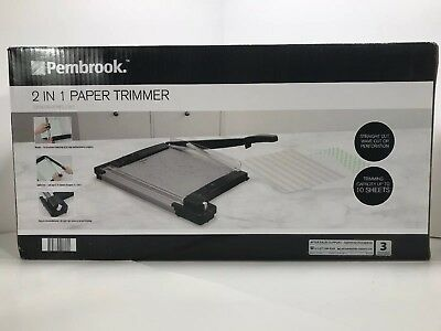 Pembrook 2 In 1 Paper Trimmer BRAND NEW.