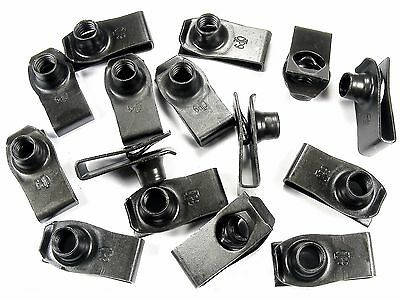 U-nut Clips For Toyota- M8-1.25mm Thread- 20mm Center To Edge- Qty.15- #195