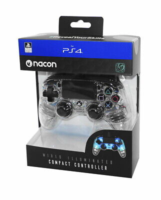 Nacon PS4 Controller / Gamepad Compact Color Edition Transparent Blau Neu & OVP