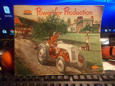 1951 Ford Tractor Powerfiul Production  Sales Brochure Booklet