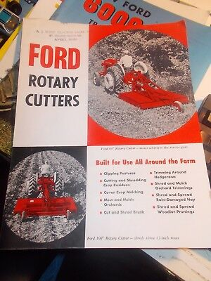 1960 Ford Rotery Cutters Sales Brochure