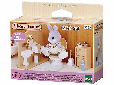 Sylvanian Families Toilet Set Bathroom Furniture Girls Role Play Set