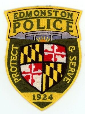 Edmonston Police Maryland Md Patch Sheriff Colorful