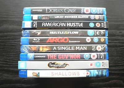 Blu-ray Bundle: 10 Movie Joblot. Collection of Various Genre Movies - VGC / New