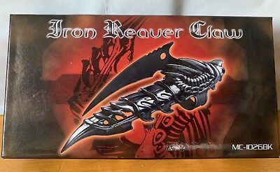 Black Dragon Tail Iron Reaver Finger Ring Claw Stainless Steel Metal Blade Knife